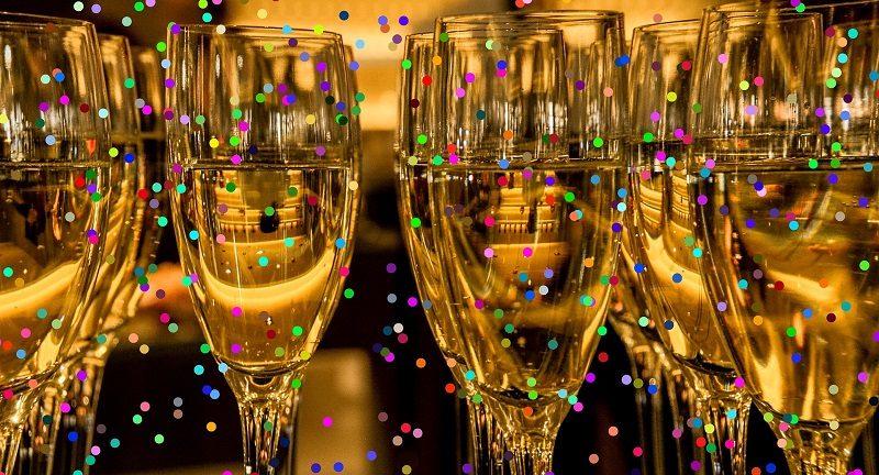 jaarwisseling champagneglazen