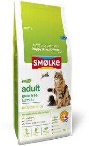 Smolke graanvrij droogvoer voor katten